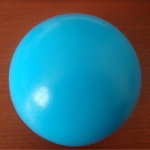 Glossy Stress Foam Ball