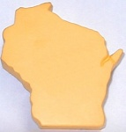 State of Wisconsin Shaped Stress Reliever